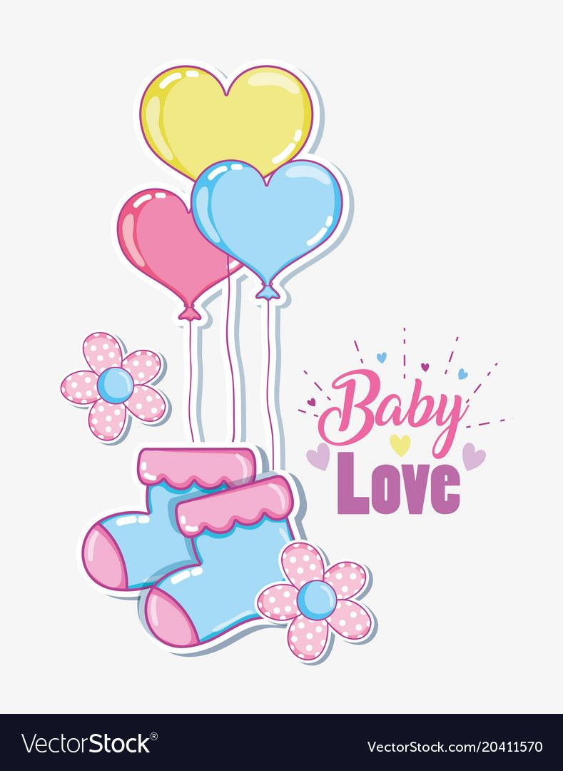 Download Baby love cartoons vector image on | Trang trí