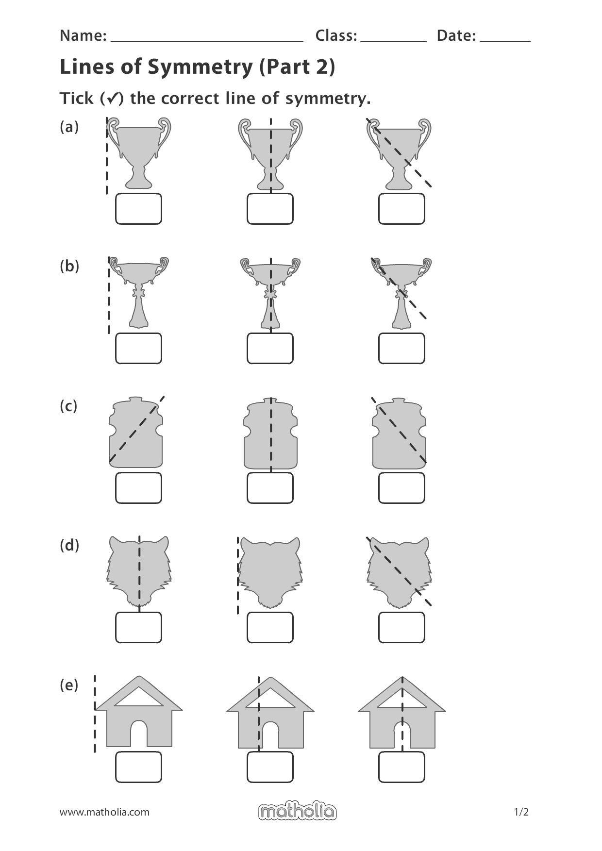 Lines Of Symmetry Part 2 In