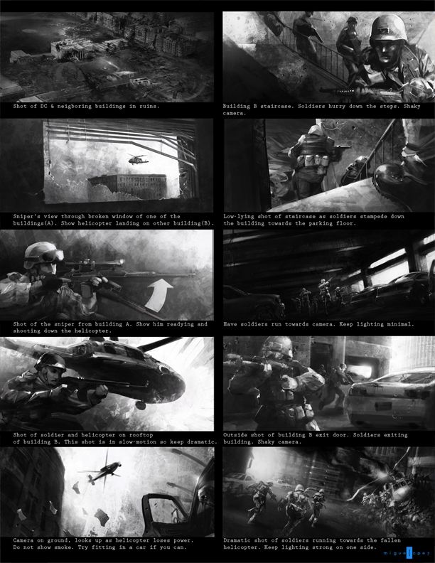 woah! the storyboard is such a work of art- am sure the film pales - sample script storyboard