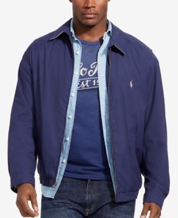 d2c92a609 Polo Ralph Lauren Men Big and Tall Jackets, Bi-Swing Windbreaker in ...