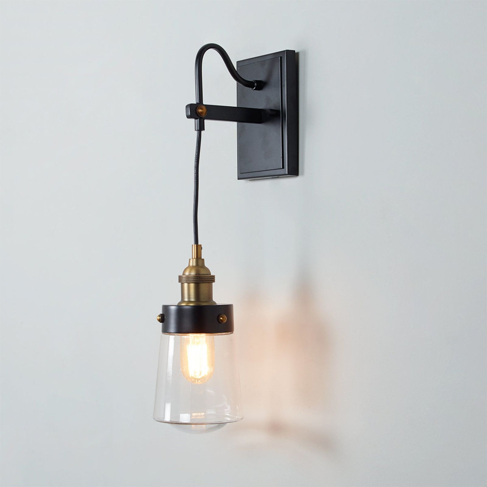 Retro Glass Corded Sconce Corded Sconce Glass Shade Pendant