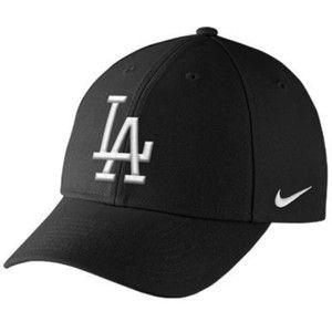 Nike L.A. Dodgers Dri-FIT Classic Adjustable Performance Hat Black ... 6d7083e9534