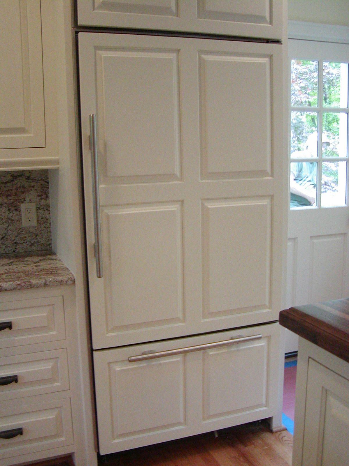 Custom Kitchen Cabinet Doors Kitchens Remodel Refrigerator Wooden Panel Door Panels  336
