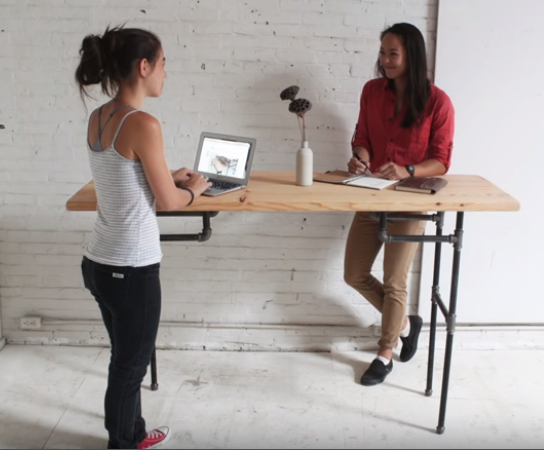 Build A Standing Desk That Converts To A Work Table Diy Standing