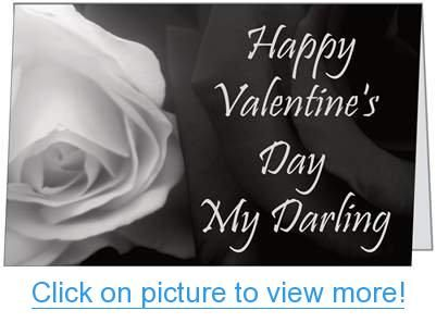 Valentines Day Lover Darling Spouse Husband Rose Wife Greeting Card 5x7 by QuickieCards
