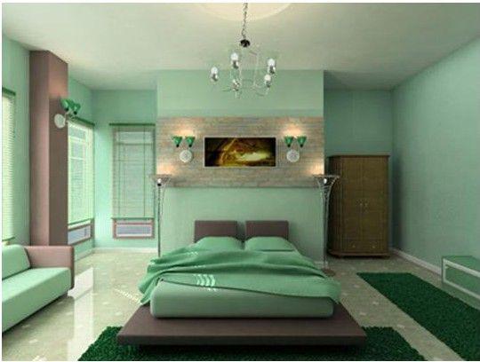 Dormitorio Verde Menta Mint Green Bedroom Master Bedroom Interior Design Master Bedroom Colors