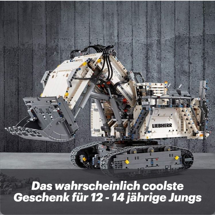 Geschenk Fur Jungs 12 14 Jahre Lego 42100 Technic Liebherr Bagger R 9800 Bauset Mehrfarbig In 2020 Lego Technic Geschenke Fur Jungs Geschenkideen Fur Jungs
