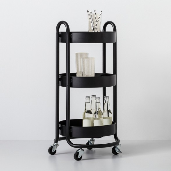 Round Metal Utility Cart Made By Design Utility Cart Made By Design Pot Storage