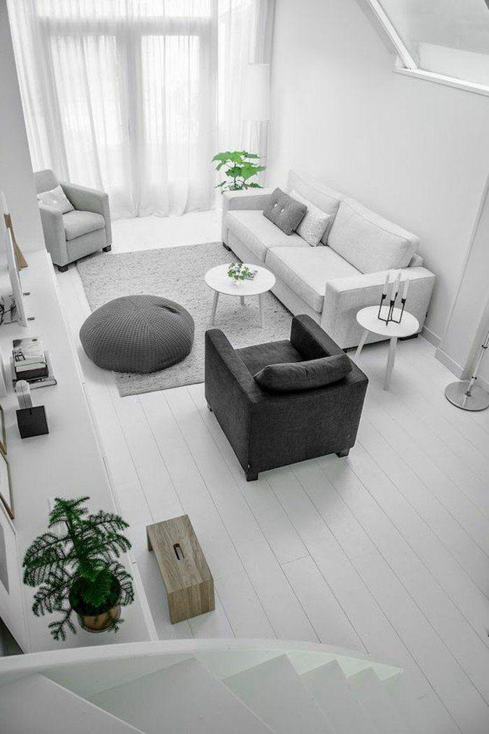 Quelle couleur pour un salon? 80 idées en photos! | Fauteuil gris ...