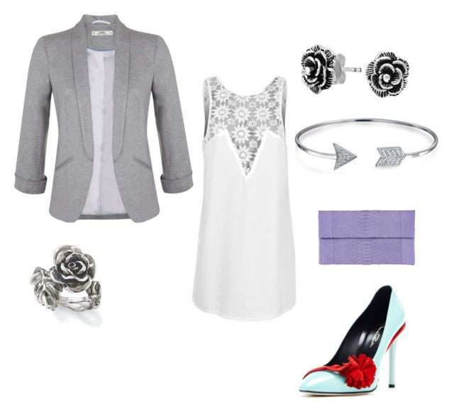 Shot to the Heart by kristen-105 on Polyvore featuring polyvore fashion style Toby Heart Ginger Miss Selfridge Oscar de la Renta Bling Jewelry Natures Jewelry clothing