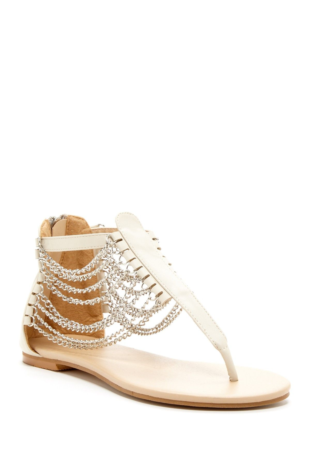 Chained T-Strap Sandal