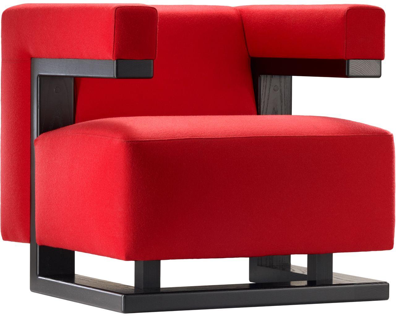 Bauhaus chair 1920 - Tecta F51 Kavallerietuch Rot Esche Massiv Schwarz Sessel Walter Gropius Bauhaus