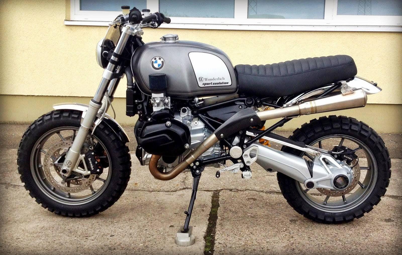 modern bmw airhead scrambler custom   motorcycles & scooters