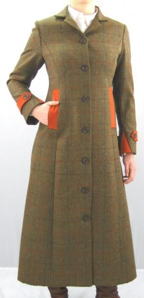 Long Heather Tweed Coat for ladies 1300 in Jedburgh tweed - just ...