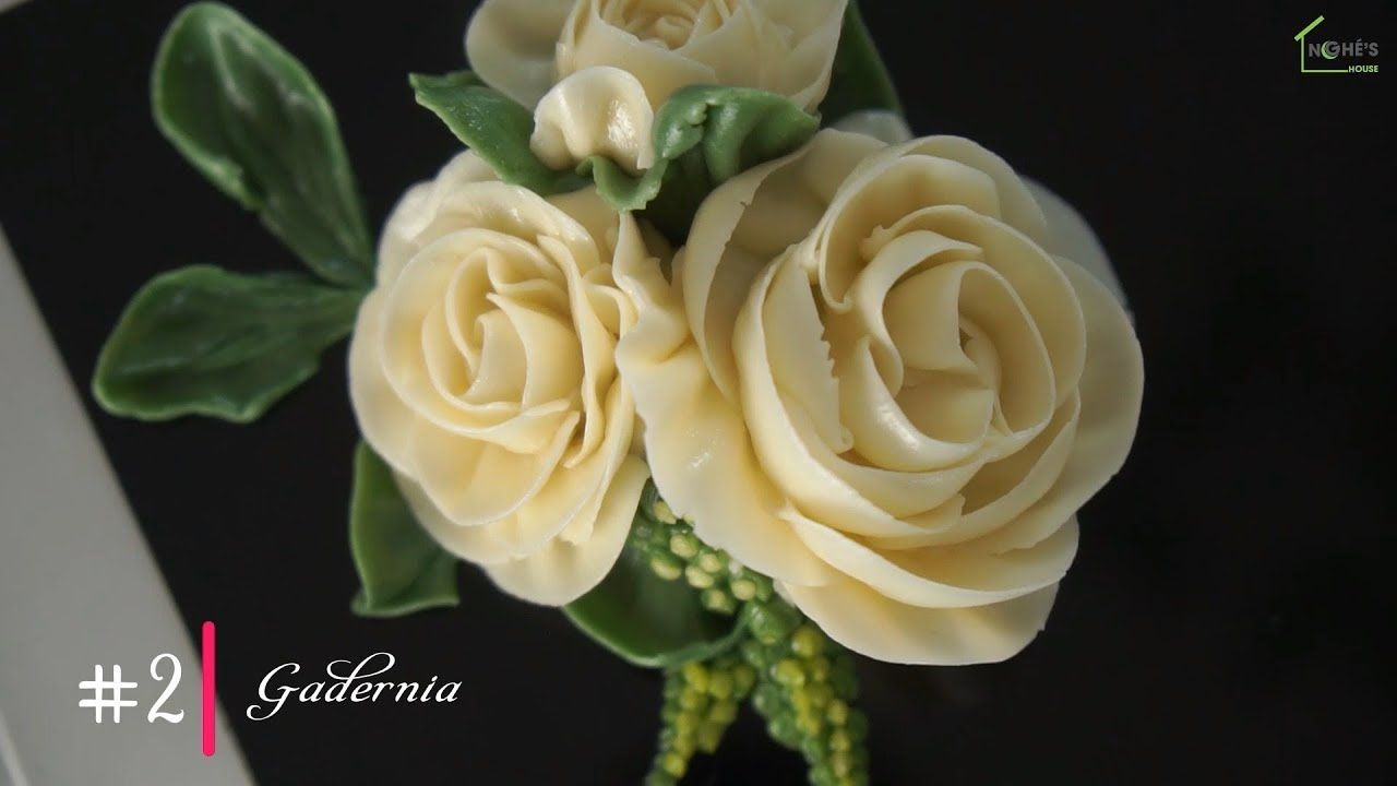 #2 GARDENIA | Basic Buttercream Flowers for beginners ...