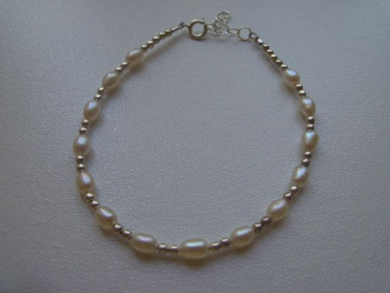 sterling silver tiny round beads and tiny white pearls by syl10, $20.50