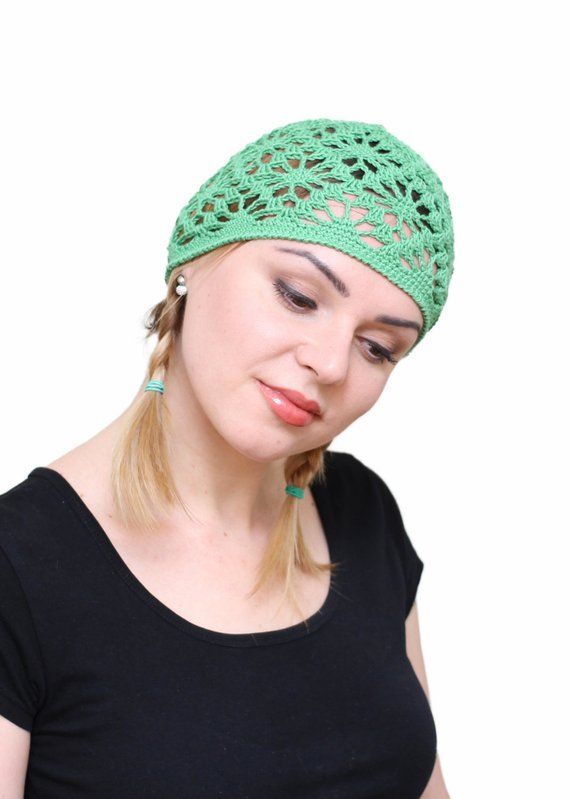 new style new arrive order online Ladies summer beanie, Crochet green beanies, Girl's lace ...