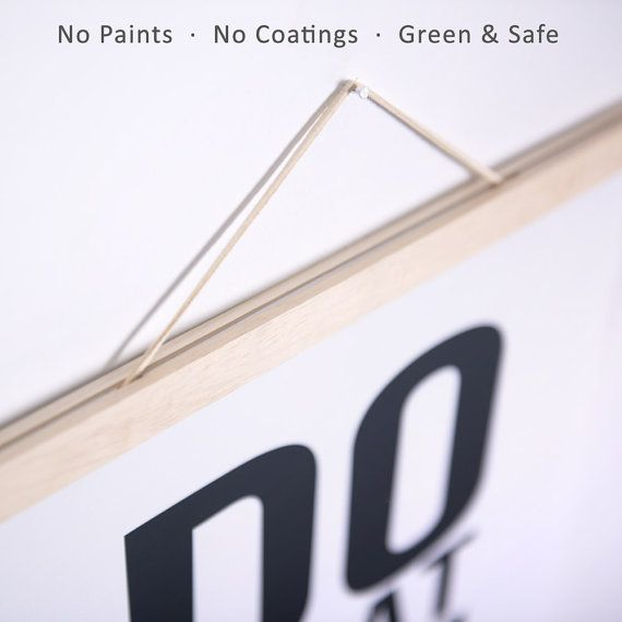 Tool Free Wooden Poster Hanger Ikea Light Minimalist By Qingyishu