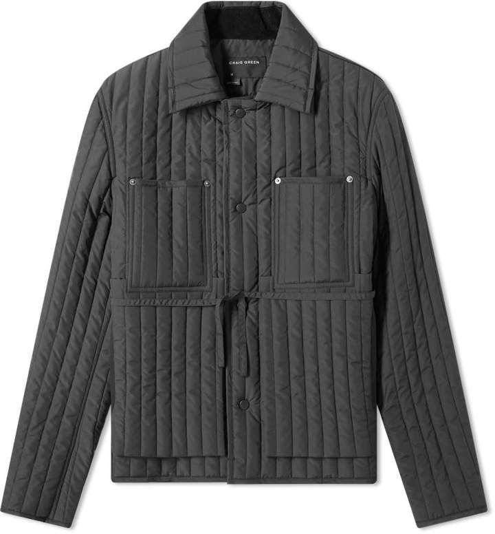 Craig Green Quilted Worker Jacket Craig Green Green Leather Jackets Mens Fashion Summer