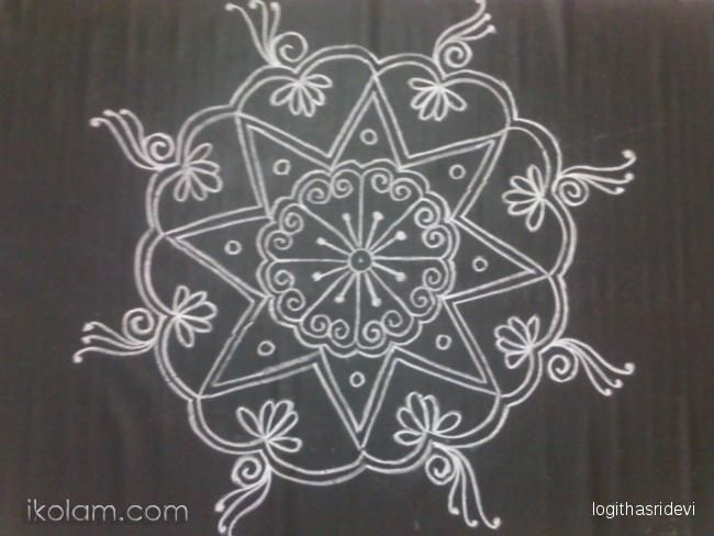 Rangoli rangoli freehand rangoli for Floor rangoli design