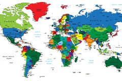 Free download colour english language world map vector free vector free download colour english language world map vector free vector includes vector world map gumiabroncs