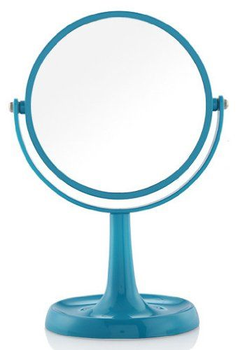 Two Sided Tabletop 360 Degree Swivel Vanity Mirror 1x