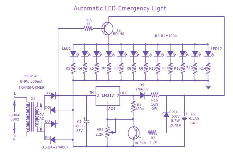 Emergency Exit Light Wiring Diagram