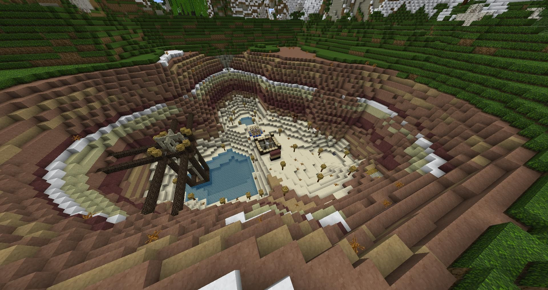 Minecraft Quarry | Minecraft designs, Minecraft, Minecraft houses