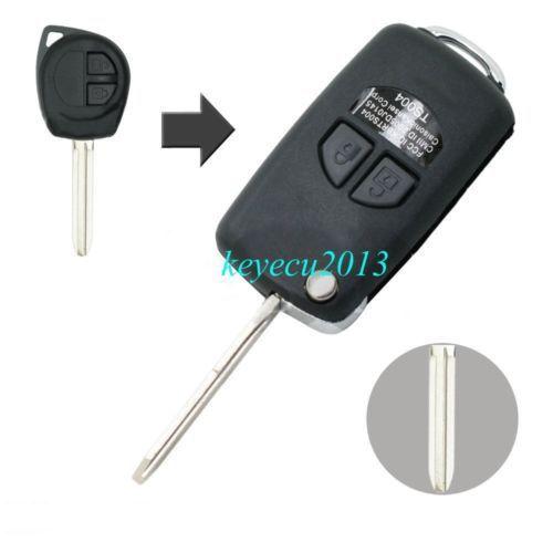 Folding Remote Key Case Shell 2btn For Suzuki Grand Vitara Swift