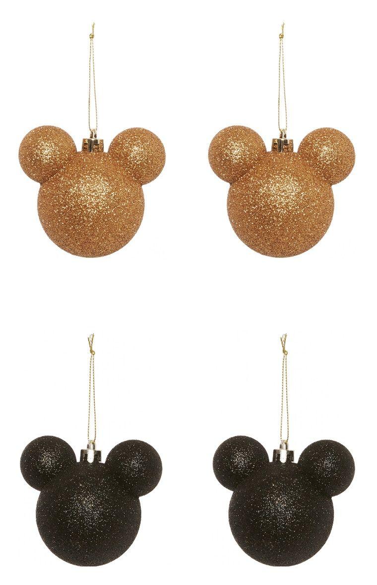 Primark 4pk Disney Mickey Minnie Copper Baubles Primark Disney