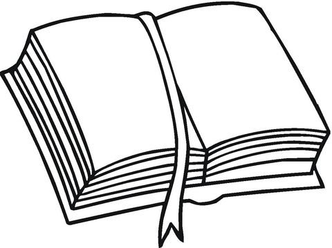 Coloriage Livre Et Signet Categories Livres Coloriages
