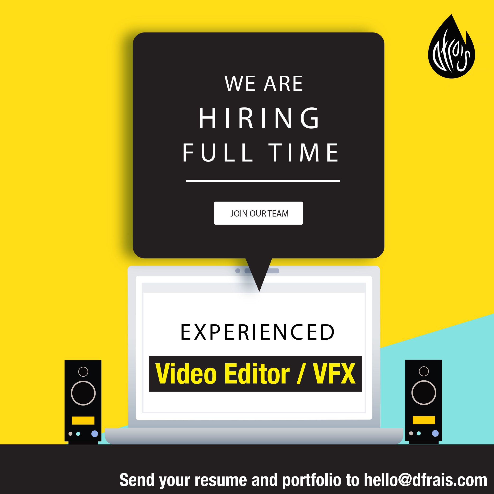 This Poster Is To Hiring Fulltime Experienced Video Editor Vfx