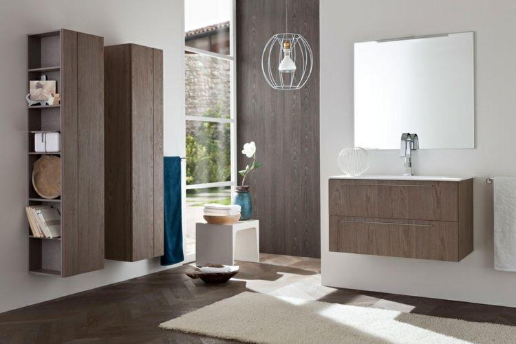 Regal Badezimmer ~ Badezimmergestaltung badezimmerschrank holz massiv regale