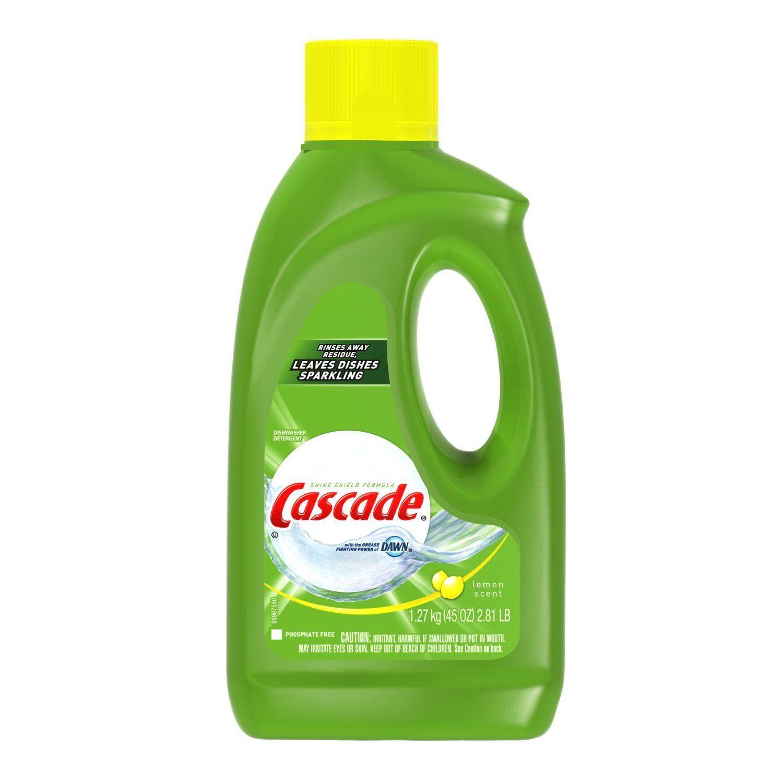 Cascade Dishwasher Detergent Gel 45 Oz Dishwasher Detergent
