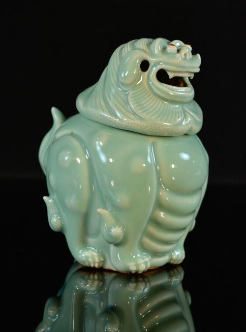 Japanese Celadon Porcelain Censer