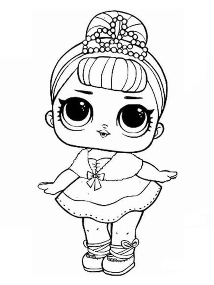 Lol Doll Coloring Page Free Who Likes Dolls The Ones At Home Have Lots Of Dolls Maybe Even Until Your Mattress Or Lol Dolls Coloring Pages Dog Coloring Page