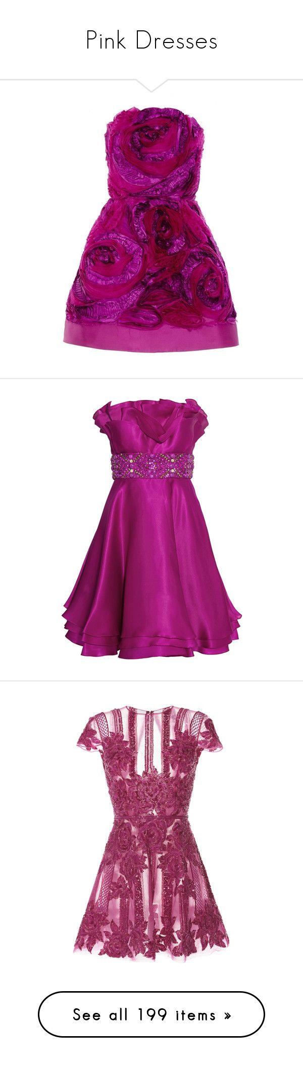 Lujoso Pink Strapless Cocktail Dress Ideas Ornamento Elaboración ...