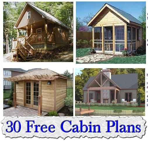 30 Free Cabin Plans Cabin Plans Cabin Small Cabin Plans