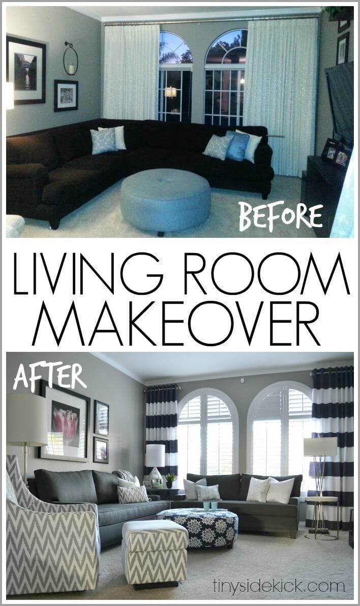 Before And After 26 Budget Friendly Living Room Makeover
