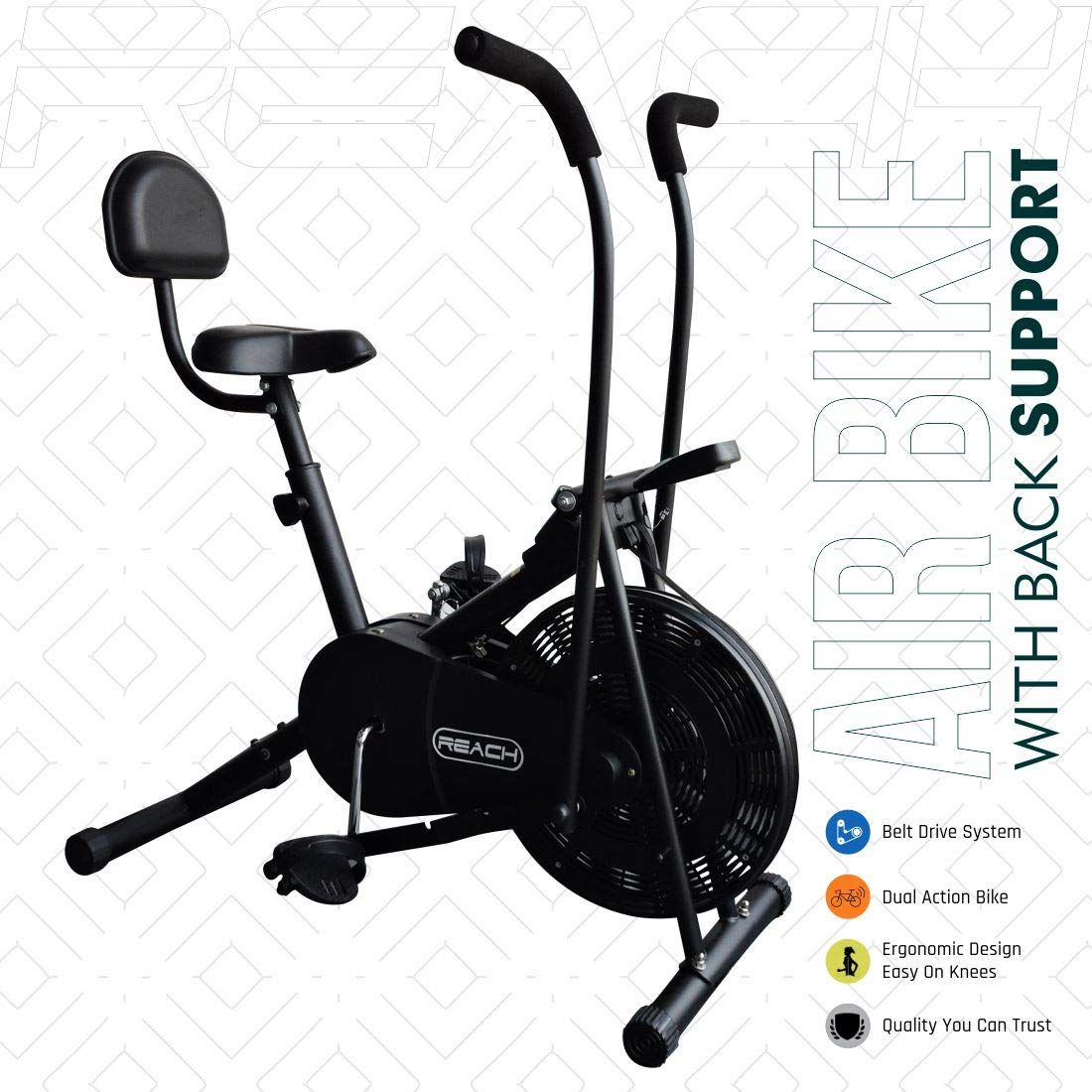 Reach Ab 110 Air Bike Exercise Cycle India 2020 In 2020 Biking Workout Best Exercise Bike Cycling Workout