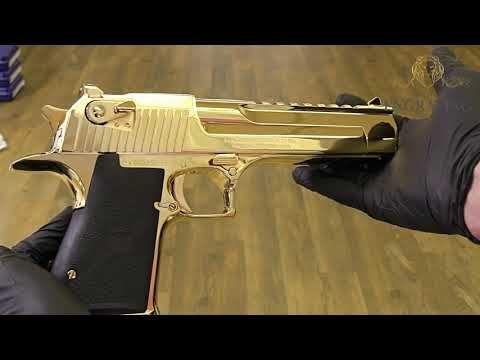 "24k gold plated desert eagle mark xix 357 magnum ""only"