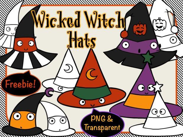 Witch Hats Digital Clip Art Freebie Clip Art Freebies Witch Hat Clip Art