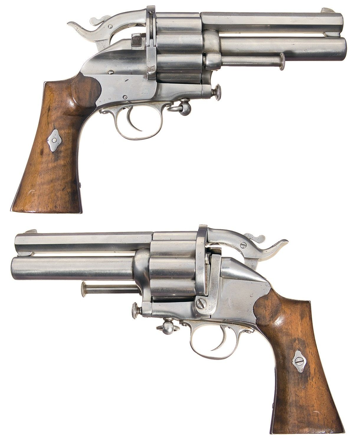 The last variation of the le mat revolvers based on a 1869 patent serial