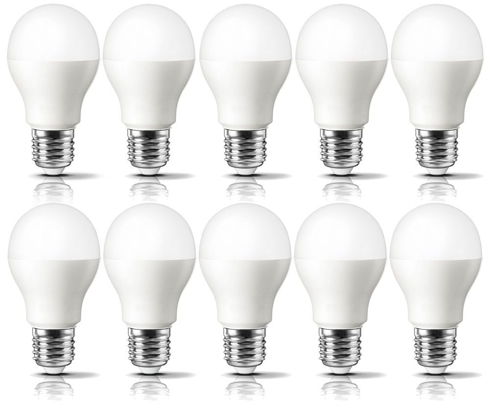 Led Light Bulbs Pack Of 10 With Free Delivery 60 Watt Equivalent Daylight Color Led 10pack Led Light Bulbs Light Bulbs
