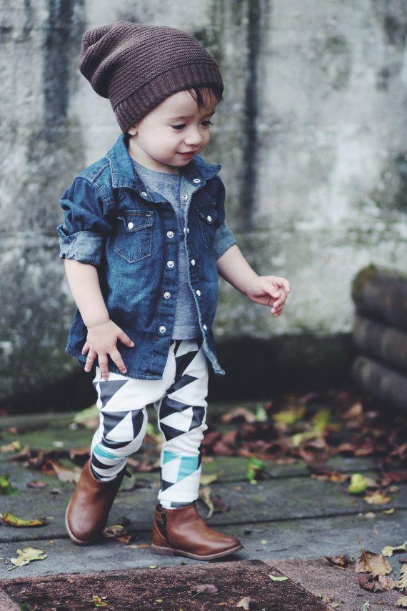 GEO organic cotton leggings | Hipster kid, Baby leggings and ...
