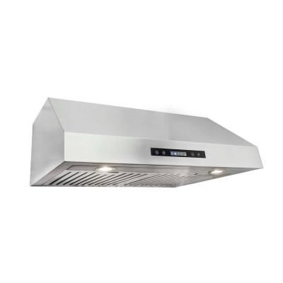 Cosmo 30 In Under Cabinet Range Hood In Stainless Steel With Touch Controls Uts30 The Home Depot Stainless Steel Range Hood Under Cabinet Range Hoods Range Hood