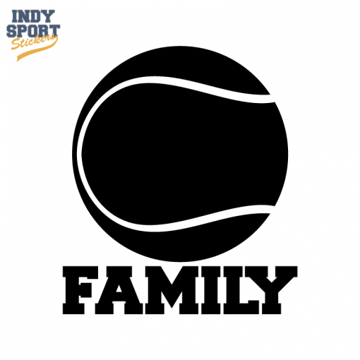 Tennis Ball Silhouette With Family Text Decal Silhouette Vinyl Decals Tennis