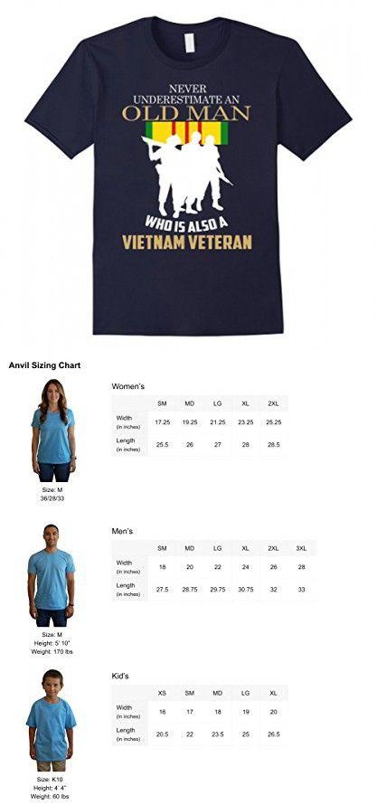Men's Never underestimate OLD MAN is VIETNAM VETERAN TShirt 3XL Navy
