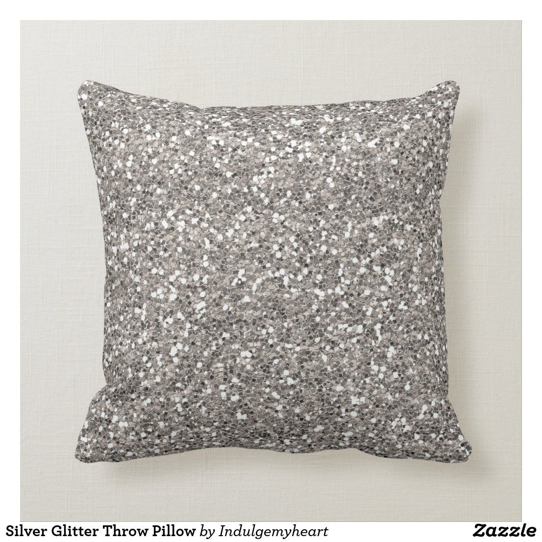 Silver Glitter Throw Pillow Zazzle Com In 2020 Glitter Pillows Throw Pillows Silver Throw Pillows