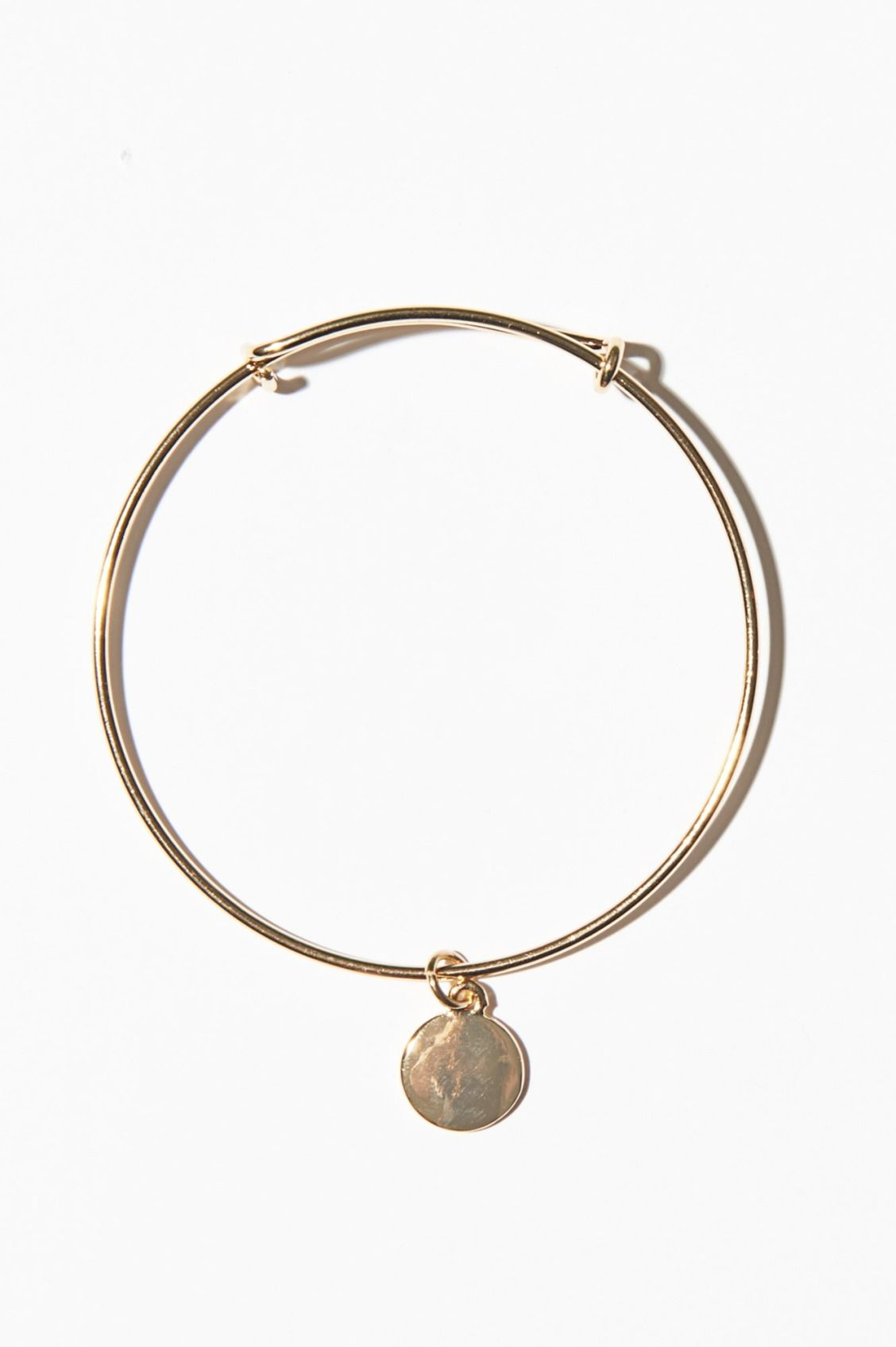 Thin Metal Bracelet With Charm